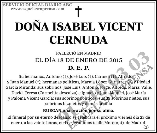 Isabel Vicent Cernuda